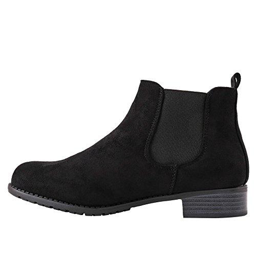 Plat Daim Cheville Bottes Daim Talon Chaussures Pointure Enfiler A synth Bas Dames Cuir Simili Bottines Pour qnd6d8C