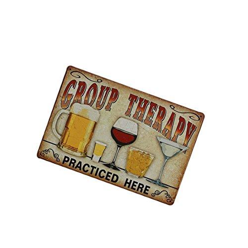TaoNaisi 20 cm x 30 cm Vintage Metal cartel de chapa placa arte de la pared hoja del cartel Cafe Bar pub decoración - amarillo