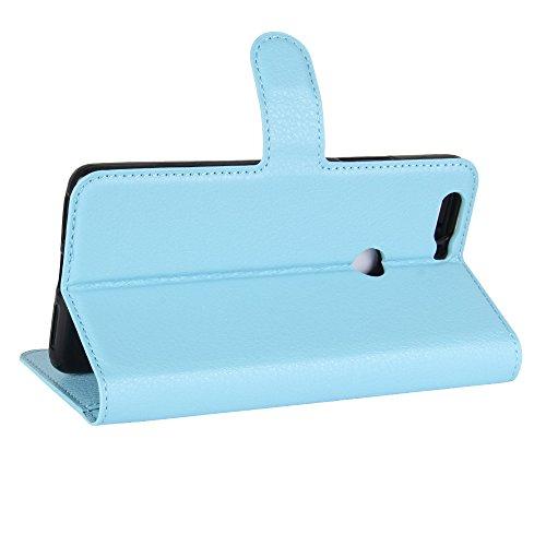 Lusee PU Caso de cuero sintético Funda para ZTE Nubia Z17 5.5 pulgada Cubierta con funda de silicona violeta azul