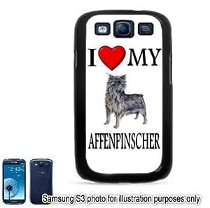 Affenpinscher I Love My Dog Photo Samsung Galaxy S3 i9300 Case Cover Skin Black