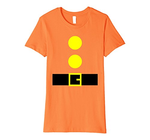 Womens Halloween Dwarf Theme Party DIY Costume Shirts Family BFF Large Orange
