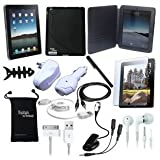 DigitalsOnDemand 15-Item Accessory Bundle for New Apple iPad 2 2nd Gen 2G Tablet / Wifi 3G model 16GB, 32GB, 64GB (2nd Generation Older Model)