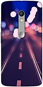 Snoogg Hazy Nights Designer Protective Back Case Cover For Motorola Moto X Play
