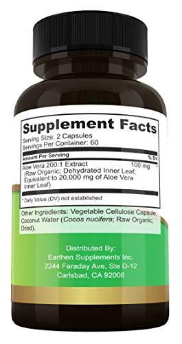 Organic Aloe Equivalent All Natural Non-GMO