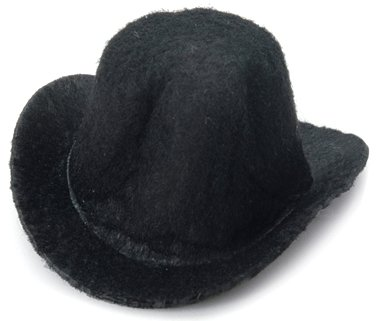 Darice 12767 Felt Black Top Hat, 2 X 1.25 X 1-inches, Black -