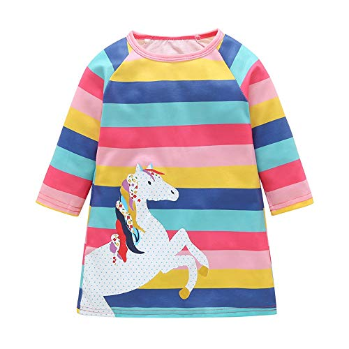 MOONHOUSE Toddler Kids Baby Girl Tops,Christmas Horse Striped