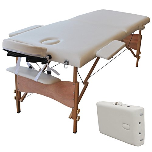 84''L Portable Massage Table Facial SPA Bed Tattoo w/Free Carry Case White by onestops8