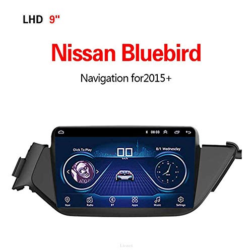 Lionet GPS Navigation for CarNissan Bluebird,2015+ 9Inch Android 8.1 WiFi 1G/16G in Dash GPS Navigation, Radio, HiFi,Bluetooth, GPS Navigator (Bluebird Radio)