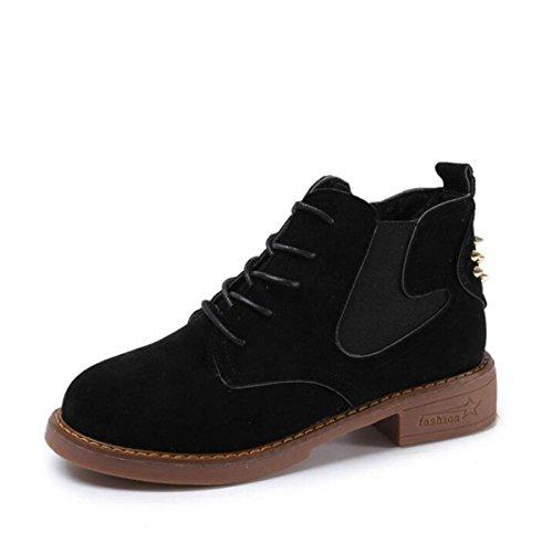Modelos de otoño e invierno botas de Martin remaches de gamuza botas británicas de viento black