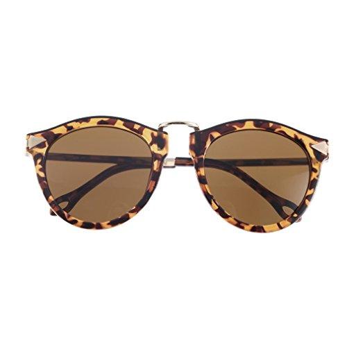 AMAZZANG-Women's Unisex Sunglasses Arrow Style Eyewear Round Sunglasses Metal Frame SU BX - Richie Style Nicole