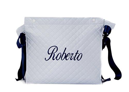 Talega plastificada carrito bebe personalizado danielstore ( nombre Roberto )