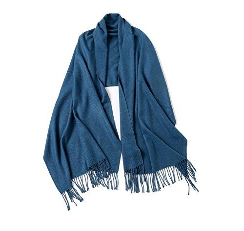 Large Square Scarf Shawl Oversize Blanket Soft Scarves For Women (Indigo) Indigo Womens Plush
