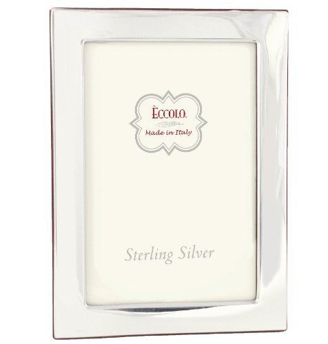 Eccolo Sterling Silver Frame, Holds 5 by 7-Inch Photo, Madison by Eccolo