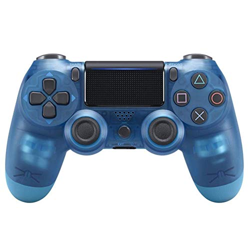 (FTOPS Blue Crystal PS4 Controller Wireless Joysticks Dual Shock 4, Bluetooth Gamepad,Support Playstation 4,Pro/Slim PS4,PC,PS TVs,Smart TV)