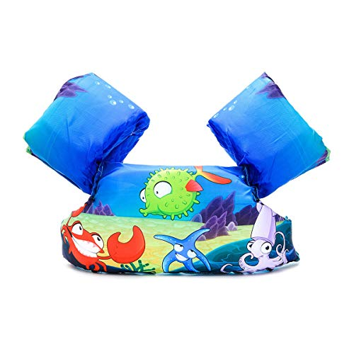 - Elejolie Swim Aids for Toddlers,Kids Learn to Swim Life Jacket for Toddlers,Swim Aid Floater Life Vest (Puffer Fish)