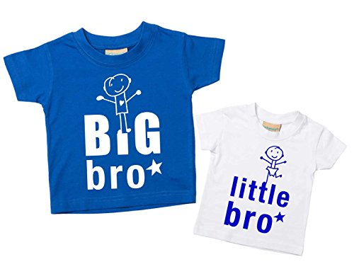 60 Second Makeover Limited Big Bro Kleiner Broer T-shirt set Brother T-shirts Frères Baby All Petit kinderen blauw of…