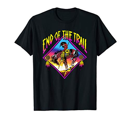 Indian Horse T-shirt - End Of The Trail Retro Native American T-Shirt
