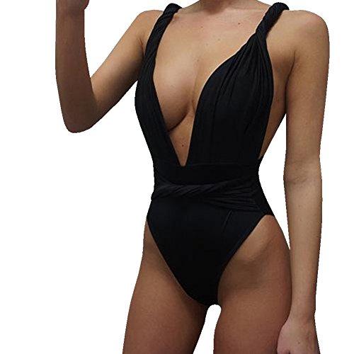 Costume Mare E Beachwear Costumi Interi Bagno Donna Trikini Nero Piscina Da Intero Bikini FnzqWZdW