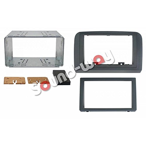 Kit montage autoradio 2 DIN fa/çade adaptateur pour FIAT CROMA avec entourage