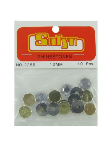Bulk Buys CN449-72 10 Piece 10mm Rhinestones - Pack of 72 by bulk buys