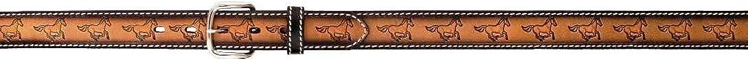 Western Boys Leather Horse Belt