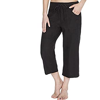 068f24760544e9 Causeway Bay Linen Capri Pants Womens Cropped Trousers 3/4 Holiday Shorts  Plus Sizes Cheap UK 12- UK 18: Amazon.co.uk: Clothing