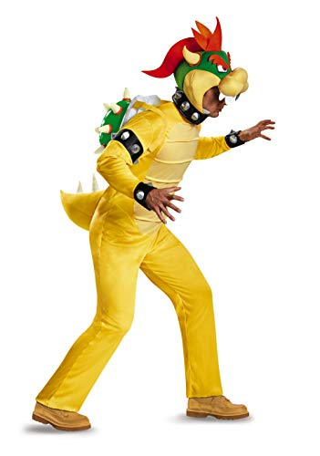Disguise Men's Bowser Deluxe Adult Costume, Multi,
