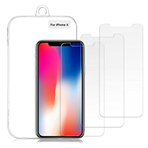 XLon iPhone Xs/X Screen Protector, 0.26mm 9H Tempered Shatterproof Glass Screen Protector from XLon