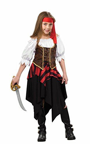 Forum Novelties Deluxe Buccaneer Sweetie Pirate Child Costume, Small -