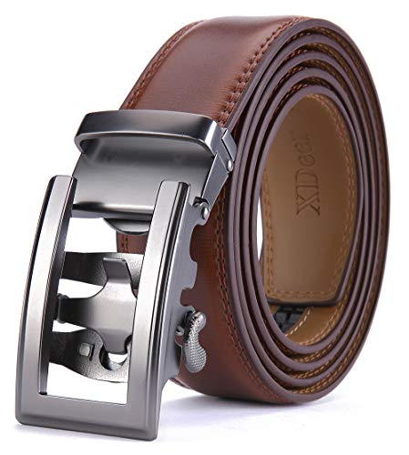 XDeer Leather Ratchet Belts for Men