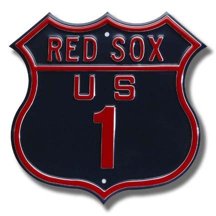 Authentic Street Signs Steel Route Sign: RED SOX US 1