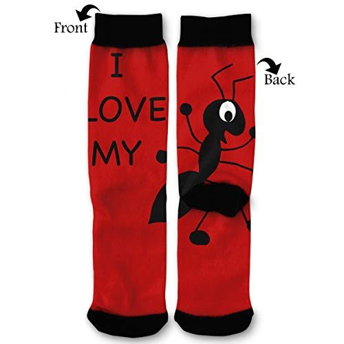 I Love My Aunt Men & Women Casual Cool Cute Crazy Funny Athletic Sport Colorful Fancy Novelty Graphic Crew Tube Socks ()