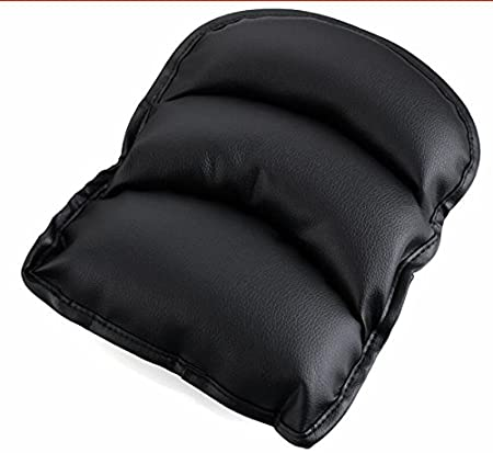 BEMLP Black Car Armrests Rest Seat Box Pad Cover Cushion Luxury PU Soft Leather Car Center Console Vehicle Seat Cushions Armrest Pillow Pad For Ford Focus Peugeot Motor Auto Vehicle Covers Accessories