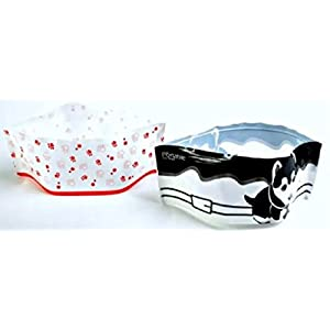 Portable Pet Travel Bowls 2 pack for Food and Water 83
