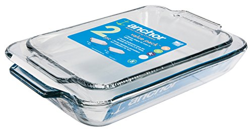 2 Piece Rectangular Baking Dish - Anchor Hocking Oven Basics 2-Piece Baking Dish Value Pack