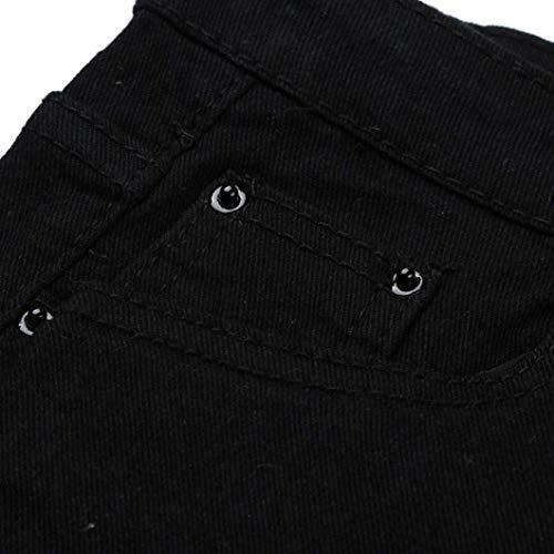 Botón Floral Vaqueros Slim Lápiz Elástica Cintura Alta Schwarz Bolsillos Mezclilla Ropa Mujeres Fit Las Adelina De Pantalones Con Bordado Caída vqwZZ1