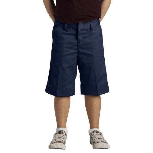 Dickies Little Girls' Uniform Stretch Bermuda Short, Dark Navy, -