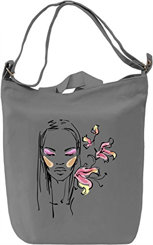 Girl With Flowers Borsa Giornaliera Canvas Canvas Day Bag| 100% Premium Cotton Canvas| DTG Printing|