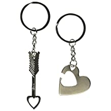 1 Pair Onlyou Key to My Heart Cute Couple Love Keychain Ring