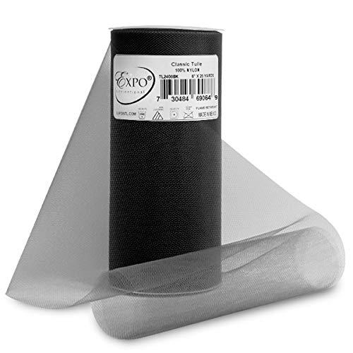 Black Fabric Spool - Expo Classic Tulle Spool of 25-Yard, Black