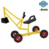 Cirocco Heavy Duty Sandbox Digger for Kids Outdoor Play – Crane Sand Digger Toy Backhoe w/ Swivel | Strong Metal Frame Large 49'' x 15'' x 18'' Scoop Extend 38''| For Child Snow Beach Backyard Excavator