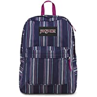 Mochila JanSport Super FX White Multi Denim Stripe
