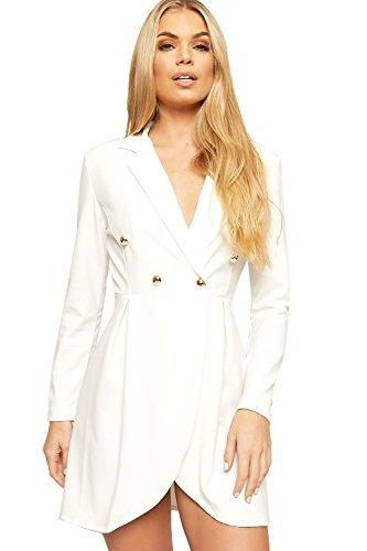36 Cr Manche Breasted WearAll Cardigan Double Blazer Femmes Veste Bouton Haut Longue Dames 42 ASSUBP6wx