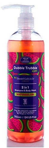 Dubble Trubble Kids By Daniel Galvin Jr London - WATERMELON - 2 in1 Shampoo & Body Wash 24 (Type Scented Shampoo)