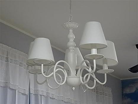 Lampadario Bianco Opaco : Lampadario a lumi in ferro bianco opaco Ø xh cm disraeli