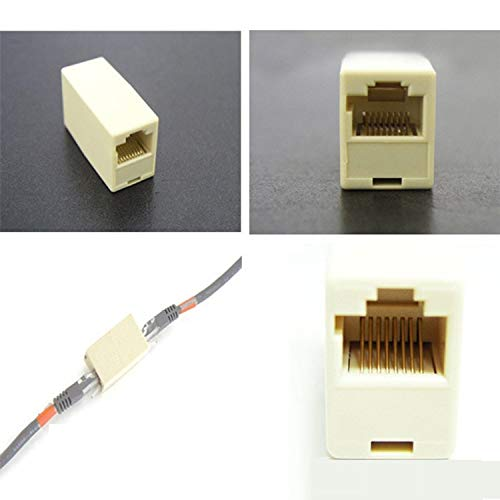 LUKZER RJ45 8P8C Network Female to Female Network LAN Cable Ethernet Coupler Adapter Connector   1 PC
