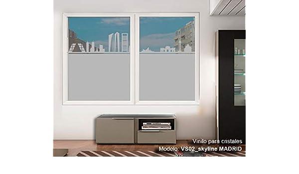 TOKPERSONAL Vinilo Adhesivo Cristal Ventanas Ref. VS02N Skyline ...