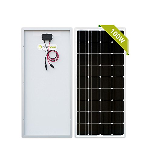 Newpowa 100 Watt Monocrystalline 100W 12V Solar Panel High Efficiency Mono Module RV Marine Boat Off