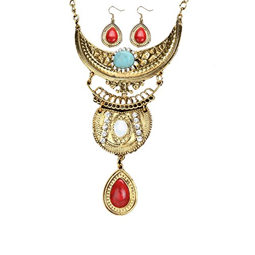 diamondo-silver-plated-chain-turquoise-earrings-necklace-set-multicolor