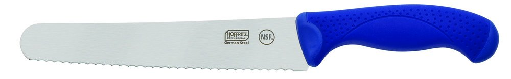 Hoffritz 5226094 Commercial Top Rated German Steel Bread Knife with Non-Slip Handle for Home and Professional Use, 8-Inch, Navy